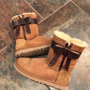 Ugg Australia-Josette Bow suede boots